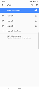 Sony Xperia 10 Plus - WLAN - Manuelle Konfiguration - Schritt 7