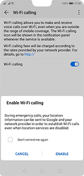 Huawei P20 - Android Pie - WiFi - Enable WiFi Calling - Step 8