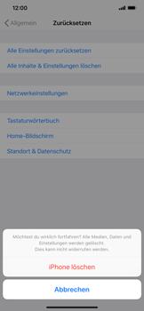Apple iPhone XS Max - Gerät - Zurücksetzen auf die Werkseinstellungen - Schritt 7