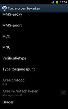 Samsung N7000 Galaxy Note - OS 4 ICS - MMS - handmatig instellen - Stap 14