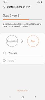 Samsung Galaxy S20 5G Dual-SIM eSIM SM-G981B - Contacten en data - Contacten kopiëren van SIM naar toestel - Stap 11