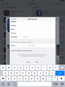 Apple iPad mini Retina iOS 8 - Applications - setting up the application store - Step 22