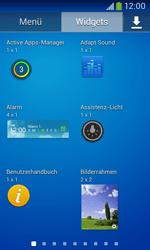 Samsung Galaxy Ace III - Startanleitung - Installieren von Widgets und Apps auf der Startseite - Schritt 6