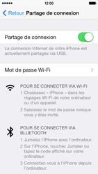 Apple iPhone 5c - Internet et connexion - Utiliser le mode modem par USB - Étape 8