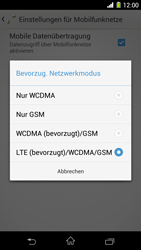 Sony Xperia Z1 - Netzwerk - Netzwerkeinstellungen ändern - 7 / 8