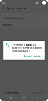 Samsung Galaxy S10 - E-mail - 032c. Email wizard - Outlook - Étape 10