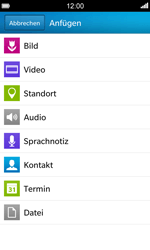 BlackBerry Z10 - MMS - Erstellen und senden - 13 / 17