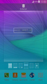 Samsung Galaxy Note 4 - Startanleitung - Installieren von Widgets und Apps auf der Startseite - Schritt 6