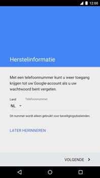 Motorola Nexus 6 - apps - account instellen - stap 8
