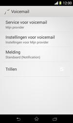 Sony D2005 Xperia E1 - Voicemail - handmatig instellen - Stap 6