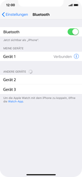 Apple iPhone X - Bluetooth - Geräte koppeln - 1 / 1