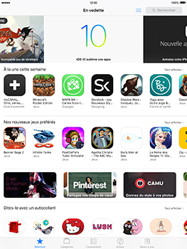 Apple iPad mini 4 iOS 10 - Applications - Télécharger des applications - Étape 4