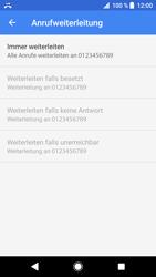 Sony Xperia XZ - Anrufe - Rufumleitungen setzen und löschen - 11 / 12