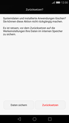 Huawei P8 - Fehlerbehebung - Handy zurücksetzen - Schritt 8