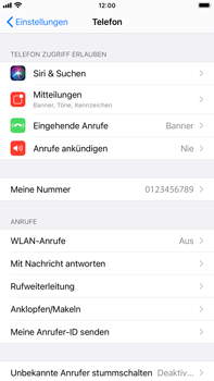 Apple iPhone 8 Plus - iOS 14 - WiFi - WiFi Calling aktivieren - Schritt 5