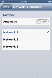 Apple iPhone 4S - Network - Manual network selection - Step 6