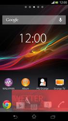Sony Xperia V - Startanleitung - Installieren von Widgets und Apps auf der Startseite - Schritt 7