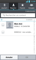 LG Optimus L5 II - Contact, Appels, SMS/MMS - Envoyer un SMS - Étape 6