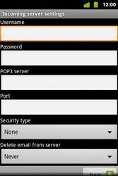 Alcatel OT-983 - E-mail - Manual configuration - Step 12