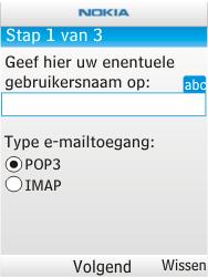 Nokia X2-00 - e-mail - handmatig instellen - stap 8