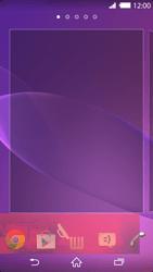 Sony Xperia Z2 - Operazioni iniziali - Installazione di widget e applicazioni nella schermata iniziale - Fase 9