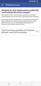 Samsung Galaxy S8 Plus - Datenschutz und Sicherheit - Datenschutzeinstellungen von Facebook ändern - 33 / 35