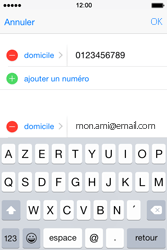 Apple iPhone 4S (iOS 8) - Contact, Appels, SMS/MMS - Ajouter un contact - Étape 14