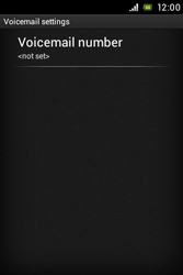 Sony C1505 Xperia E - Voicemail - Manual configuration - Step 6