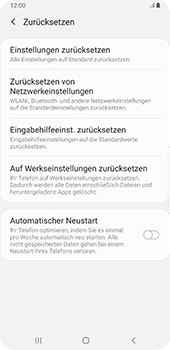 Samsung Galaxy Note9 - Android Pie - Gerät - Zurücksetzen auf die Werkseinstellungen - Schritt 6