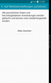 Samsung Galaxy Note Edge - Gerät - Zurücksetzen auf die Werkseinstellungen - Schritt 7