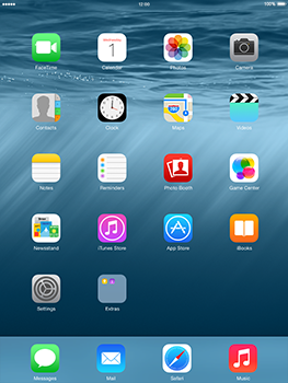 Apple iPad mini Retina iOS 8 - Applications - setting up the application store - Step 1