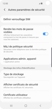 Samsung Galaxy S10e - Sécuriser votre mobile - Personnaliser le code PIN de votre carte SIM - Étape 6