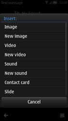 Nokia 700 - MMS - Sending pictures - Step 10
