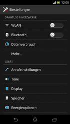 Sony Xperia V - Internet und Datenroaming - Deaktivieren von Datenroaming - Schritt 4