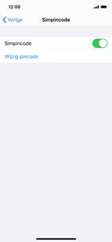 Apple iPhone X - iOS 13 - Beveiliging - Stel de pincode voor je simkaart in - Stap 12