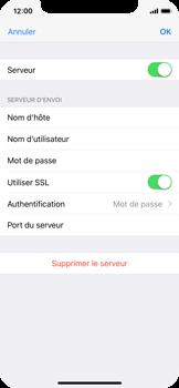 Apple iPhone X - E-mail - Configurer l