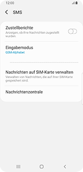 Samsung Galaxy S9 - SMS - Manuelle Konfiguration - 8 / 11