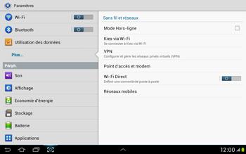 Samsung Galaxy Tab 2 10.1 - Internet et roaming de données - Désactivation du roaming de données - Étape 5