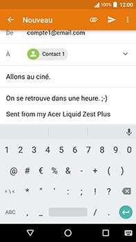 Acer Liquid Zest 4G Plus - E-mail - Envoi d