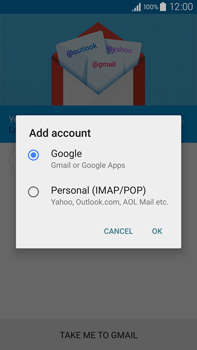 Samsung N910F Galaxy Note 4 - E-mail - Manual configuration (gmail) - Step 7