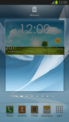 Samsung Galaxy Note II - Getting started - Installing widgets and applications on your start screen - Step 6
