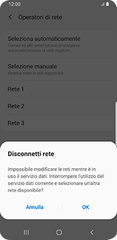 Samsung Galaxy S9 - Android Pie - Rete - Selezione manuale della rete - Fase 11