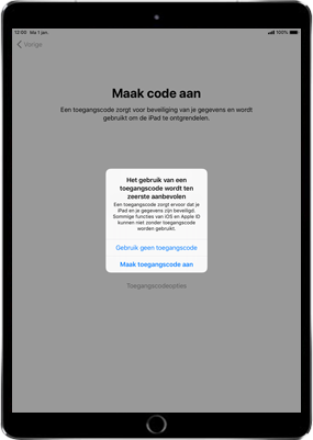 Apple ipad-pro-11-inch-2018-model-a1934 - Instellingen aanpassen - Activeer het toestel en herstel jouw iCloud-data - Stap 15
