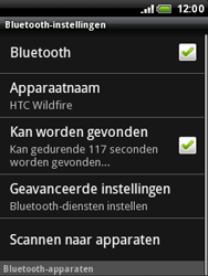 HTC A3333 Wildfire - bluetooth - aanzetten - stap 6