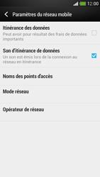 HTC One Mini - Internet et roaming de données - Désactivation du roaming de données - Étape 6