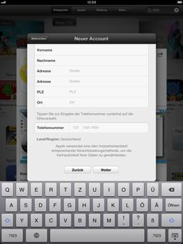 Apple iPad Retina - Apps - Einrichten des App Stores - Schritt 21