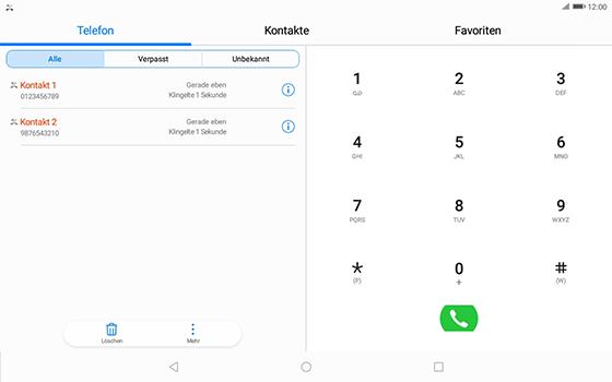 Huawei MediaPad T3 (10.0) LTE - Anrufe - Anrufe blockieren - 3 / 12