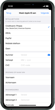 Apple iphone-11-model-a2221 - Applicaties - Account aanmaken - Stap 16