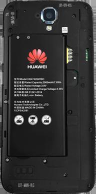 Huawei Y5 - Primeros pasos - Quitar y colocar la batería - Paso 4