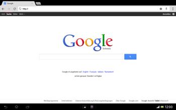 Sony Xperia Tablet Z LTE - Internet und Datenroaming - Verwenden des Internets - Schritt 9